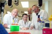 Professor Mark Ferguson, Director General of Science Foundation, Mr. Damien English TD, Minister for Skills, Research and Innovation, Professor James O'Donnell, Trinity College Dublin and Dr. William Finlay, Director of Global Biotherapeutics Technologies, Pfizer
