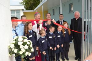 Officially opening Killyon National School with Bishop Smith
