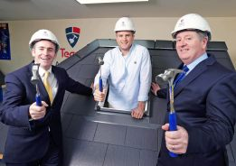 Friday 6th March 2015 Minister for Skills, Research and Innovation, Damien English TD, officially launched the Tegral Academy with a helping hand from one of Kildare's famous sons, Ireland and Leinster rugby star, Jamie Heaslip.