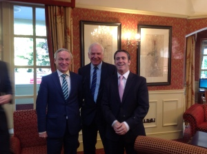Minister English, Minister Bruton and Tom Hayes Enterprise Ireland Divisional Manager Regions and Micro Enterprises at the Mid East APJ Stakeholder Forum held in the Ardboyne Hotel, Navan
