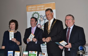 "Minister English and Council Chairman Brian Fitzgerald at the ""Boyne Valley – Home of Food Innovation Conference and Exhibition"""