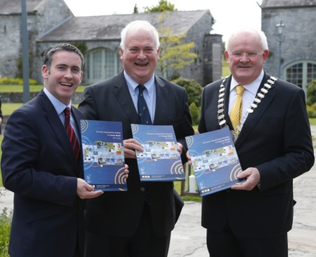Councillor Jim Holloway pictured as Chairman of Meath County Council with former Taoiseach John Bruton and Minister Damien English