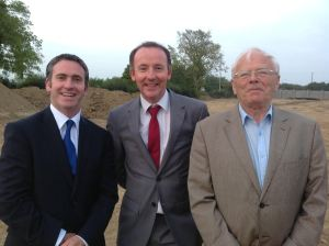 Minister Damien English with Cllr. Enda Flynn and former Councillor Willie Carey in Enfield